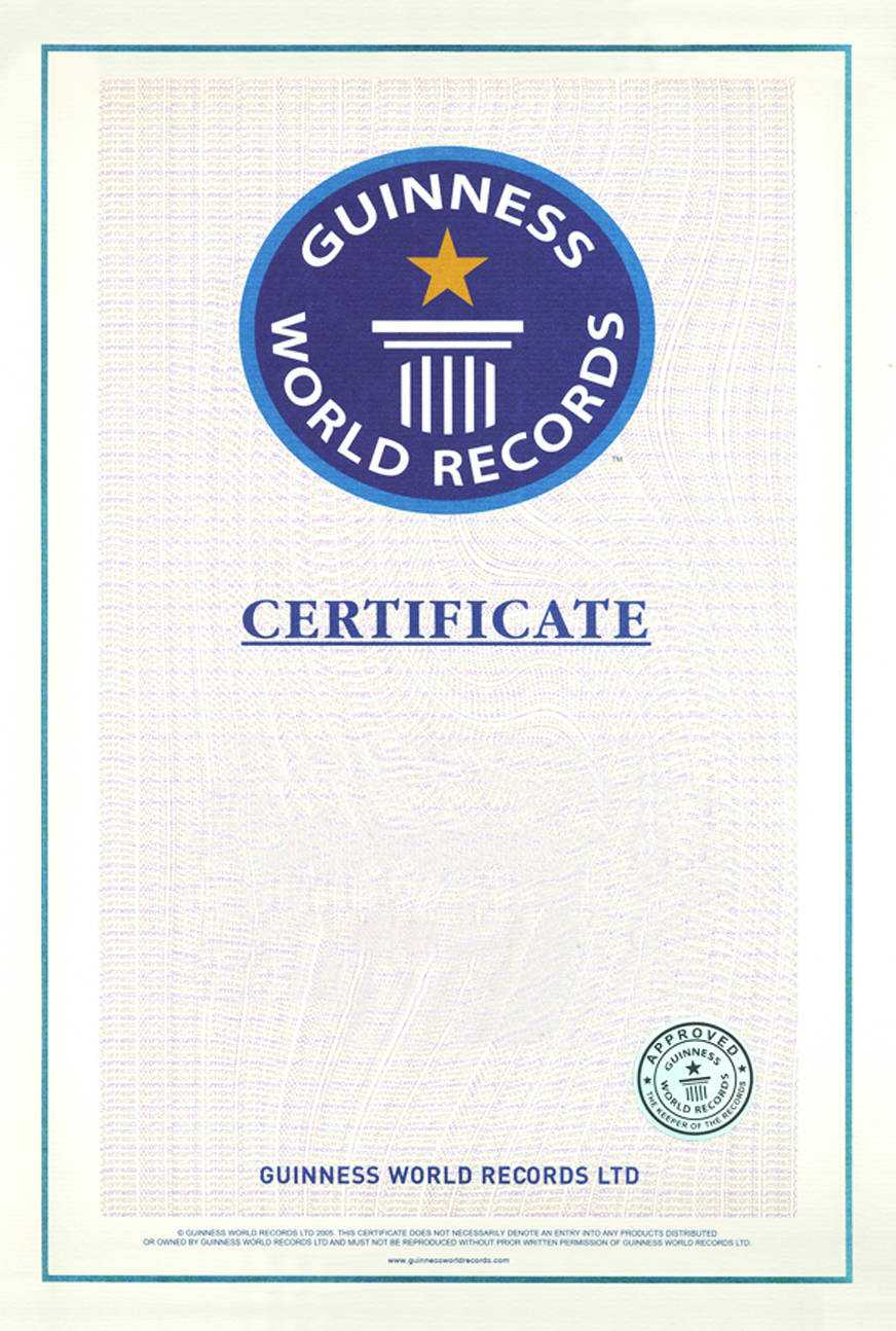 World Records | An Alternative View With Regard To Guinness World Record Certificate Template