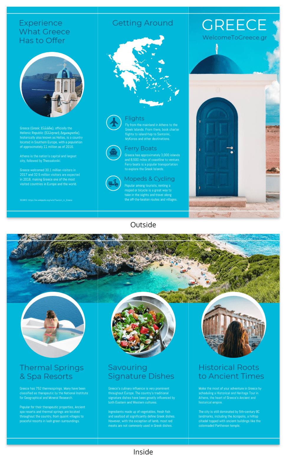 World Travel Tri Fold Brochure Inside Island Brochure Template