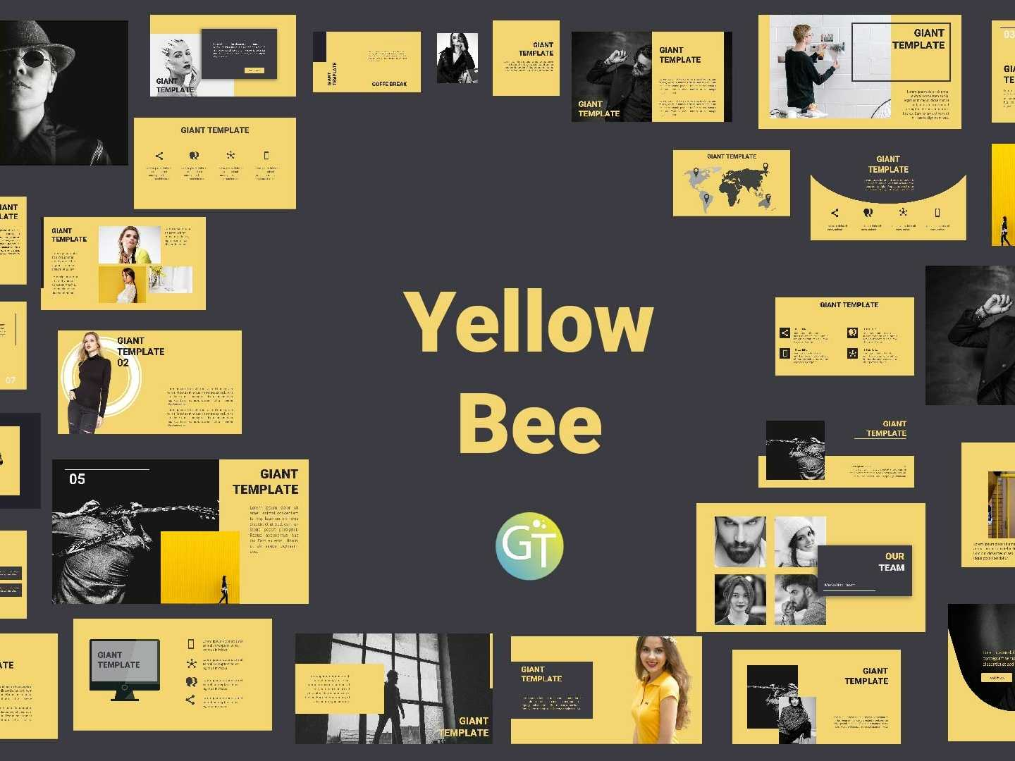 Yellowbee Free Powerpoint Template Free Downloadgiant Pertaining To Powerpoint Animation Templates Free Download