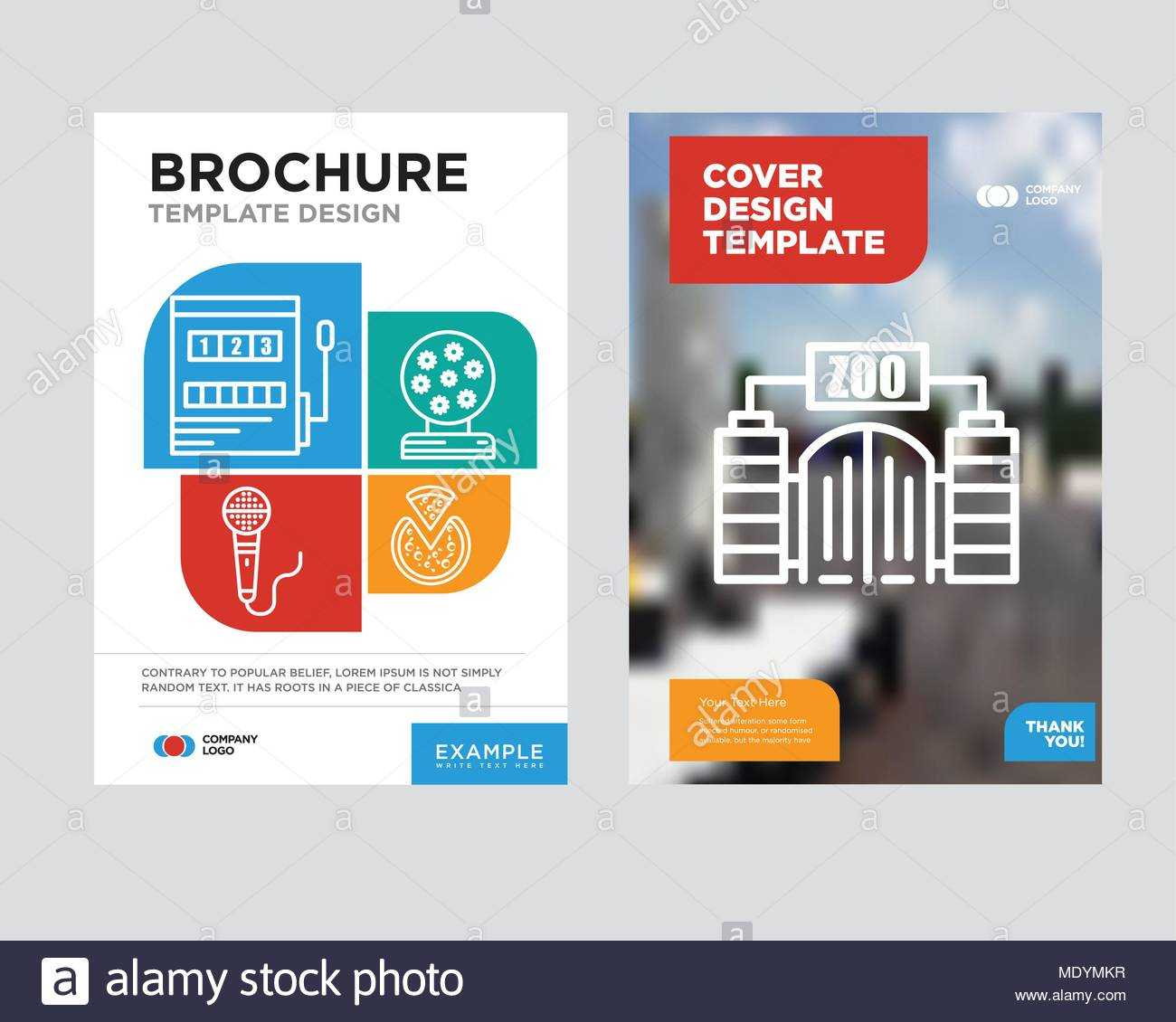 Zoo Brochure Flyer Design Template With Abstract Photo Within Zoo Brochure Template